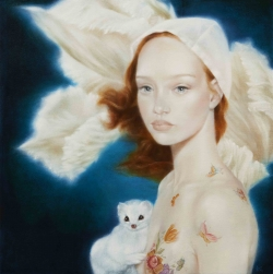 <strong>David Michael Smith</strong> Girl with Ermine (study)
